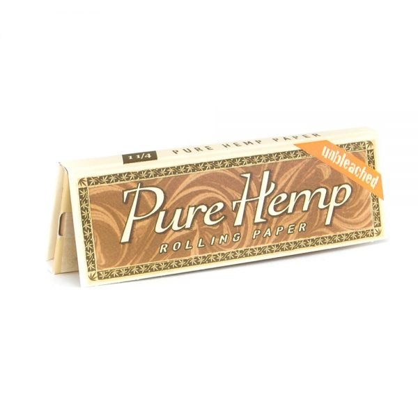 pure hemp unbleached rolling papers pack -